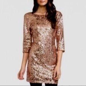 FOREVER 21 SEQUIN rose gold dress medium